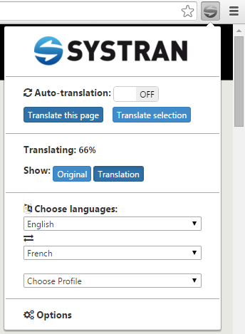 Systran extension11