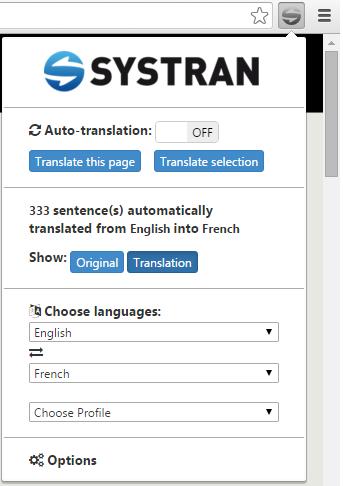 Systran extension12