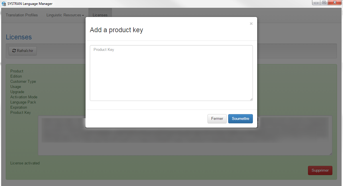 enter a second product key